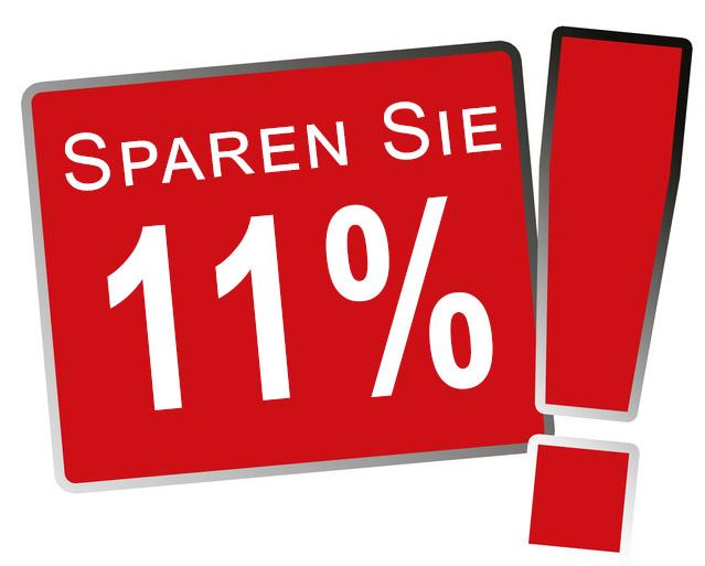 Sparen Sie 11%