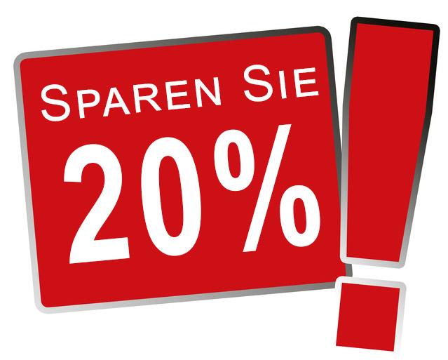 Sparen Sie 20%