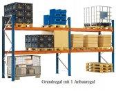 Paletten-Grundregal 399x270x75 cm Fachlast 3.000 kg Feldlast 9.000 kg
