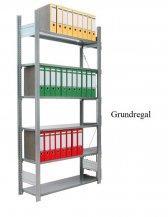 Ordner-Grundregal 200x87x60 cm Fachlast 80 kg Feldlast 1.500 kg