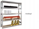 Großfach-Grundregal 300x128x40 cm Fachlast 250 kg Feldlast 2.000 kg