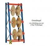 Kabeltrommel-Grundregal 273x130x62/100 cm Fachlast 500 kg