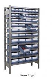 Ordnungs-Grundregal 200x100x30 cm Fachlast 150 kg Feldlast 2000 kg (mit Regalkästen)