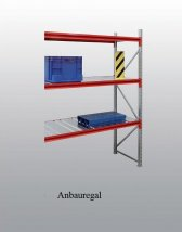 EMMA-Weitspann-Anbauregal Stahleinlage 200x150x100 cm Fachlast 975 kg, Feldlast 7.500 kg