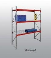 EMMA-Weitspann-Grundregal Stahleinlage 200x185x80 cm Fachlast 790 kg, Feldlast 7.500 kg
