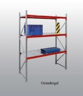 EMMA-Weitspann-Grundregal Stahleinlage 200x225x60 cm Fachlast 660 kg, Feldlast 7.500 kg