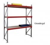 EMMA-Weitspann-Grundregal Holzeinlage 200x150x100 cm Fachlast 975 kg, Feldlast 7.500 kg