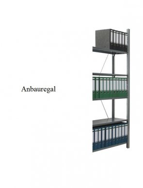 Ordner-Anbauregal 200x87x60 cm Fachlast 80 kg Feldlast 1.500 kg