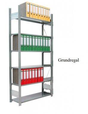 Ordner-Grundregal 232x87x30 cm Fachlast 80 kg Feldlast 1.500 kg