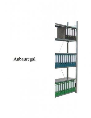 Ordner-Anbauregal 200x87x30 cm Fachlast 80 kg Feldlast 1.500 kg