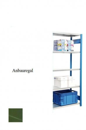 Standard-Anbauregal Resedagrün  300x87x50 cm Fachlast 150 kg Feldlast 2.000 kg