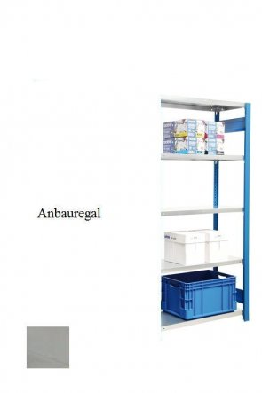 Standard-Anbauregal Lichtgrau  300x87x40 cm Fachlast 150 kg Feldlast 2.000 kg