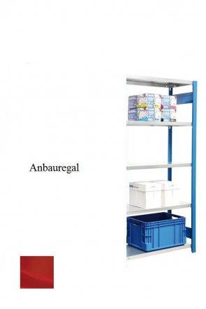 Standard-Anbauregal Feuerrot  250x87x60 cm Fachlast 150 kg Feldlast 2.000 kg