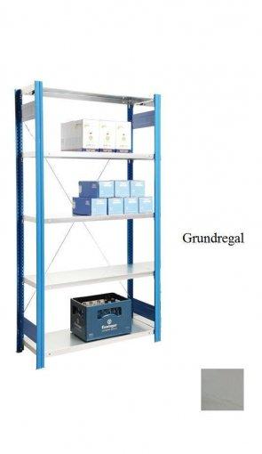 Standard-Grundregal Lichtgrau  250x87x40 cm Fachlast 150 kg Feldlast 2.000 kg