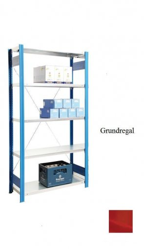 Standard-Grundregal Feuerrot  300x87x60 cm Fachlast 150 kg Feldlast 2.000 kg