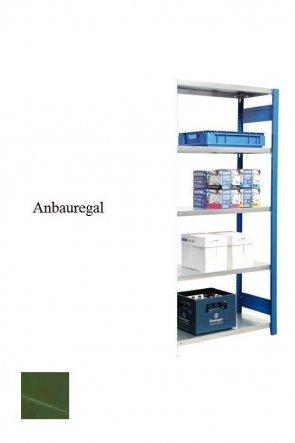 Lager-Anbauregal Resedagrün  250x87x40 cm Fachlast 250 kg Feldlast 2.000 kg