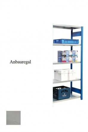 Lager-Anbauregal Lichtgrau  200x87x50 cm Fachlast 250 kg Feldlast 2.000 kg