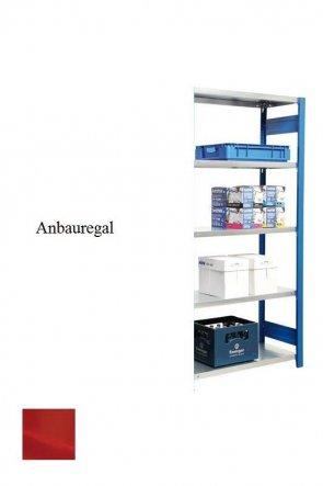 Lager-Anbauregal Feuerrot  300x87x50 cm Fachlast 250 kg Feldlast 2.000 kg