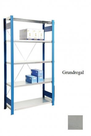 Lager-Grundregal Lichtgrau  300x87x60 cm Fachlast 250 kg Feldlast 2.000 kg