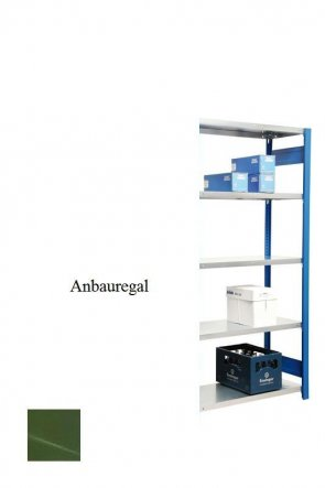 Lagerregal Plus-Anbauregal Resedagrün  250x87x50 cm Fachlast 350 kg Feldlast 2.000 kg