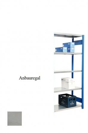 Lagerregal Plus-Anbauregal Lichtgrau  300x87x50 cm Fachlast 350 kg Feldlast 2.000 kg