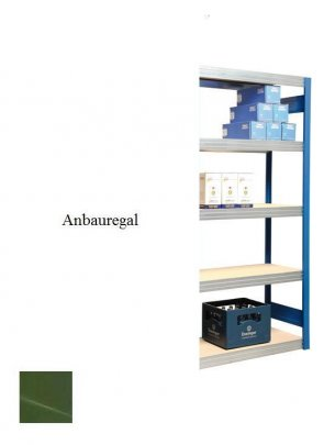 Passfeld-Anbauregal  Resedagrün  200x87x60 cm Fachlast 250 kg Feldlast 2.000kg