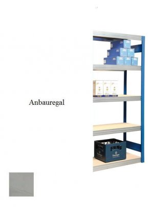 Passfeld-Anbauregal  Lichtgrau  200x87x30 cm Fachlast 250 kg Feldlast 2.000 kg
