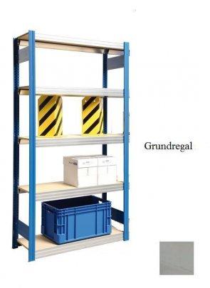 Großfach-Grundregal  Lichtgrau 300x128x30 cm Fachlast 250 kg Feldlast 2.000 kg