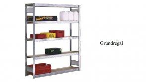Passfelder-Grundregal 250x100x30 cm Fachlast 250 kg Feldlast 2.000 kg
