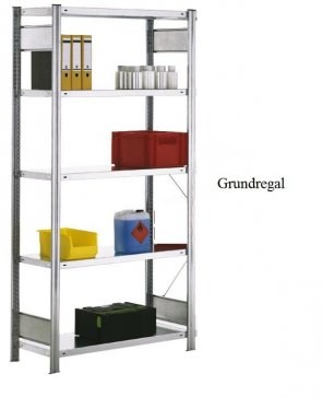 Standard-Grundregal 300x1285x40 cm Fachlast 150 kg Feldlast 2.000 kg