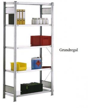 Standard-Grundregal 250x128x80 cm Fachlast 150 kg Feldlast 2.000 kg