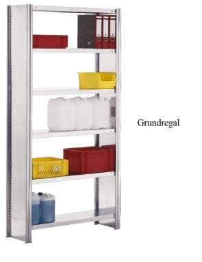 Standard-Grundregal 250x87x50 cm Fachlast 150 kg Feldlast 2.000 kg