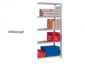 Lager-Anbauregal Plus 250x87x40 cm Fachlast 350 kg Feldlast 2.000 kg
