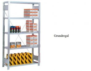 Lager-Grundregal Plus 300x87x50 cm Fachlast 350 kg Feldlast 2.000 kg