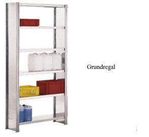 Lager-Grundregal 300x87x50 cm Fachlast 250 kg Feldlast 2.000 kg