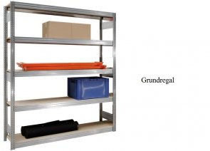 Großfach-Grundregal 300x128x50 cm Fachlast 350 kg Feldlast 2.000 kg