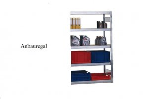 Passfelder-Anbauregal 250x87x50 cm Fachlast 350 kg Feldlast 2.000 kg