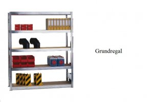 Passfelder-Grundregal 250x100x30 cm Fachlast 350 kg Feldlast 2.000 kg