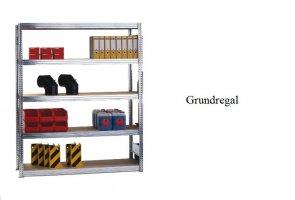 Passfelder-Grundregal 300x87x30 cm Fachlast 350 kg Feldlast 2.000 kg