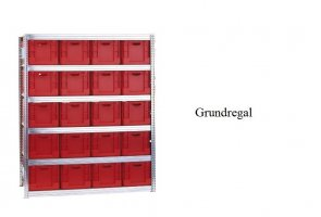 Eurokasten-Grundregal 207x169x60 cm Fachlast 350 kg Feldlast 3.000 kg