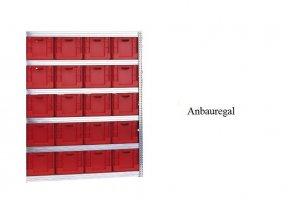 Eurokasten-Anbauregal 207x128x60 cm Fachlast 350 kg Feldlast 3.000 kg