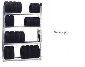 Reifen-Grundregal 250x128x50 cm Fachlast 250 kg Feldlast 2.000 kg
