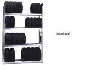 Reifen-Grundregal 200x128x50 cm Fachlast 250 kg Feldlast 2.000 kg