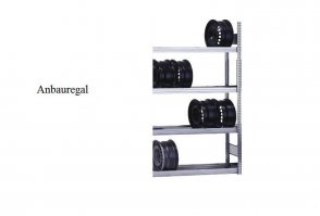 Felgen-Anbauregal 200x100x30 cm Fachlast 250 kg Feldlast 2.000 kg