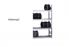 Felgen-Anbauregal 200x87x30 cm Fachlast 250 kg Feldlast 2.000 kg