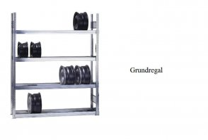 Felgen-Grundregal 250x87x30 cm Fachlast 250 kg Feldlast 2.000 kg