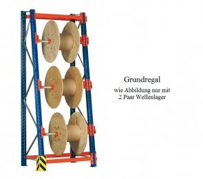 Kabeltrommel-Grundregal 210x90x70/100 cm Feldlast 3.000 kg