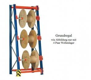 Kabeltrommel-Grundregal 399x130x44/100 cm Feldlast 4.000 kg