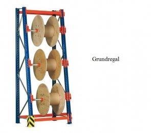 Kabeltrommel-Grundregal 336x130x53/100 cm Feldlast 3.000 kg