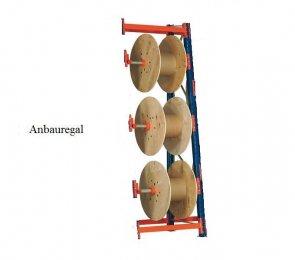 Kabeltrommel-Anbauregal 336x130x53/100 cm Feldlast 3.000 kg